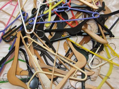 My old mishmash of hangers!
