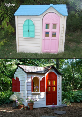 Who knew a Little Tikes house coulld look so stylish!