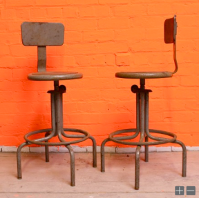 Rotating Factory chairs - £95