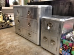 Hand made aluminuim covered cabinets